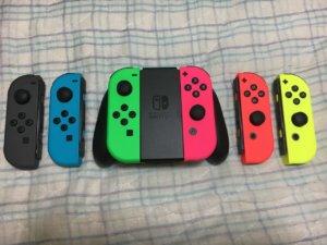 スイッチのジョイコン全色揃えたから見てくれ!